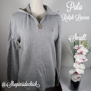 Polo Ralph Lauren Quarter Zip Sweater Estate Rib B